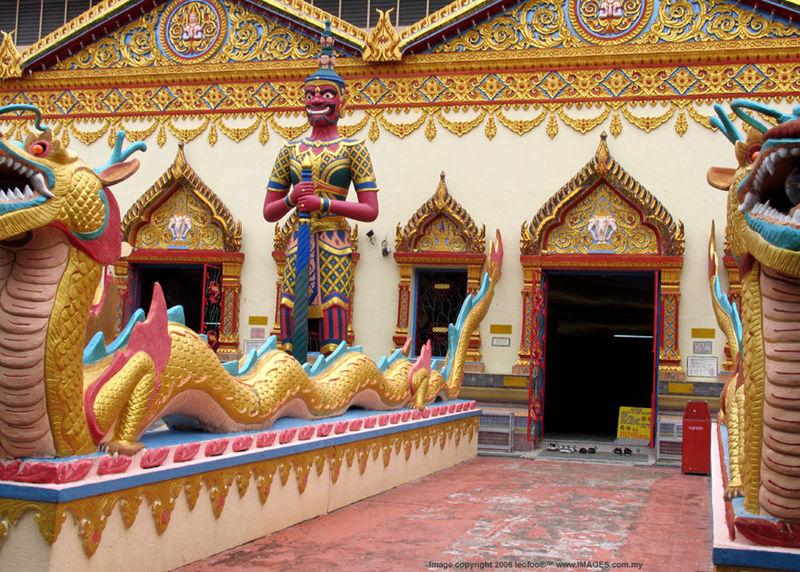 Wat Chaiyamangalaram Religious Thai Siamese Buddhist