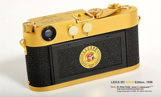 Visual Library On Leica M3 Gold 1956