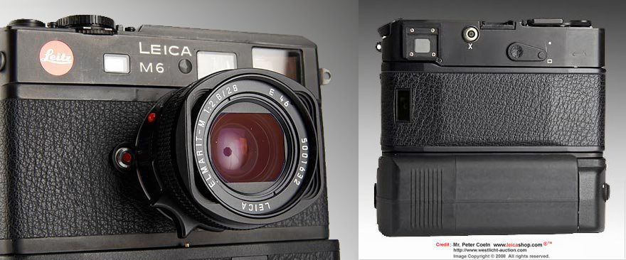 Emarit-M 1:2.8/28mm mounted on a LEICA M6 prototype camera in 1981