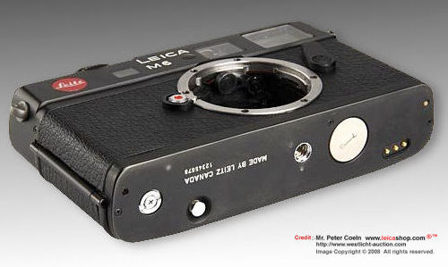 Base plate, LEICA M6 prototype body with electronic shutter, 1981