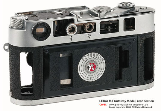 LEICA rare and collectible Cutaway model Rear section view by photographic auctionen Team photographer