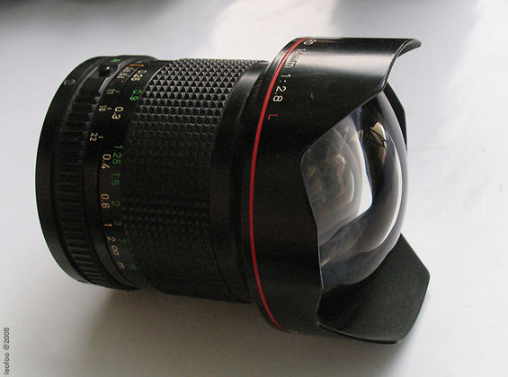 Canon FD 14mm f2 8 L lens