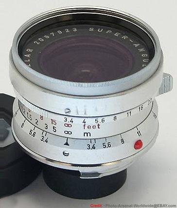Nikon's RF Nikkor (Rangefinder S-mount) f=2 1cm 1:4 (21mm f