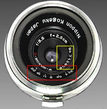 Nikon (Nippon Kogaku K K ) RF W-Nikkor 1:3 5 f=2 8cm (28mm f/3 5