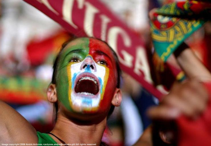 Portugal festeja porque gosta de futebol