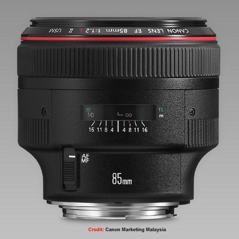 canon ef 85mm f/1.2l medum telephoto lense index page