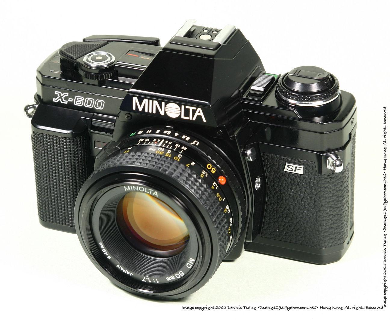 Minolta X-700 SLR camera - Index Page