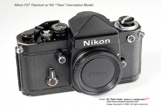 Nikon F2/T (Titanium) - Nikon F2 Titan - Index Page