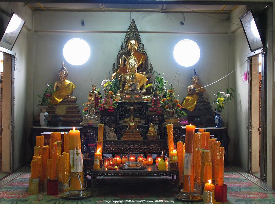 Penang Tourist Attraction: Wat Buppharam Thai (Siamese) Buddhist ...