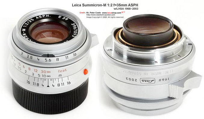 Matching Leica Summicron F2 35mm Asph Lens For Leica Mp Lhsa 19682003 Special