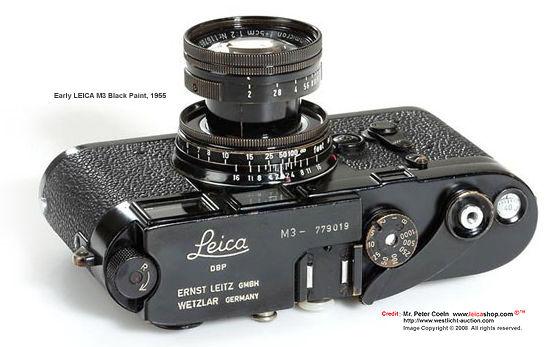 Leica M3 Black Rangefinder camera model(s) - index page