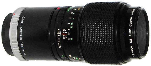 Canon Macro Lens Fd 50mm F 3 5 S S C And Canon Macro Lens Fd 100mm F 4 S C