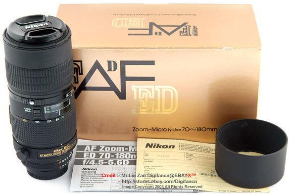 Nikon's AF-D Zoom Micro-Nikkor 70-180mm f/4 5-5 6 ED Lense
