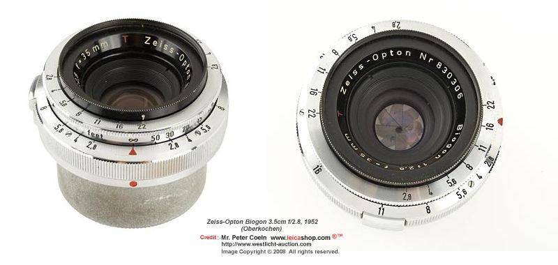 Car Zeiss JENA BIOMETAR 1:2 8 f=35mm (35mm f/2 8) - MIR