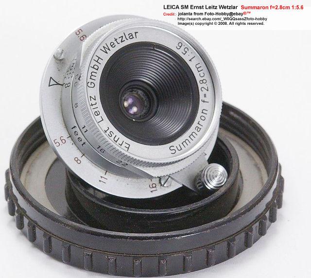 Leica rangefinder SM Ernst Leitz Wetzlar 1:5 6 F=2 8CM SUMMARON