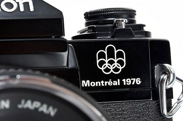 Canon F1 Montreal Olympic Edition SLR camera, 1976