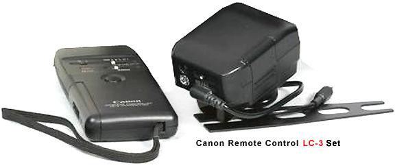 Canon LC-3 Wireless Remote Control Accessory - Instruction